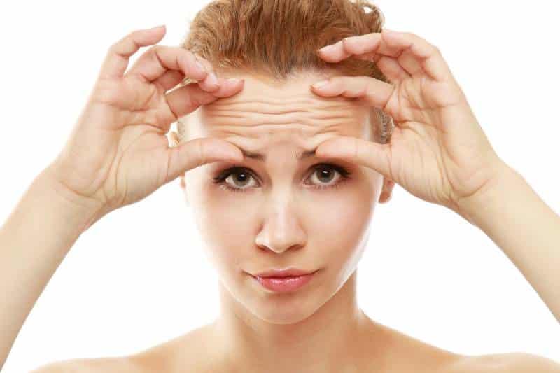 Reducción de arrugas en la frente