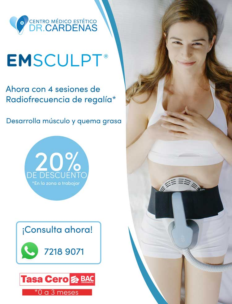 Promocion EMSculpt Consultorio Cardenas - Costa Rica